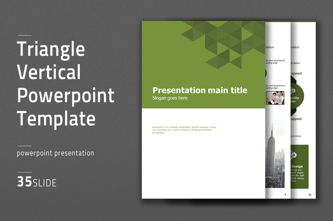 triangle vertical ppt template presentation templates creative