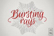 Bursting rays collection. Vintage