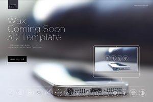 Wax Coming Soon 3D Template