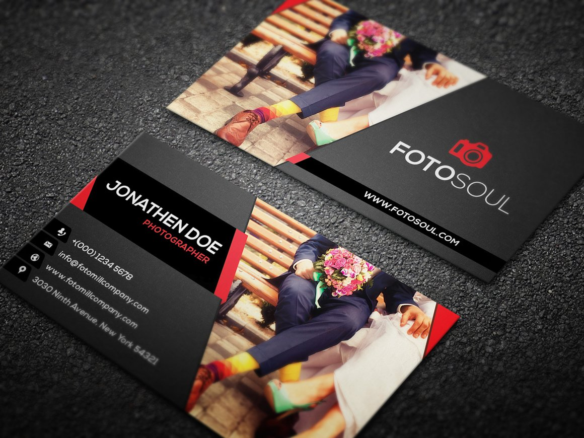 Graphic Designer And Photographer Business Card