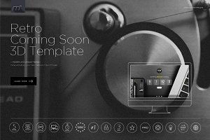 Retro Coming Soon 3D Template