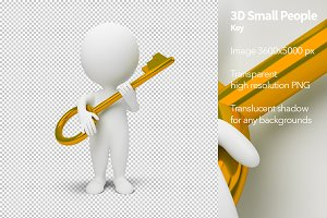 3D Small People - Key
