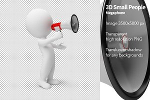 3D Small People - Megaphone