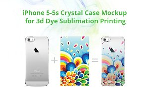 iPhone 5S 3d Crystal Case Mock-up