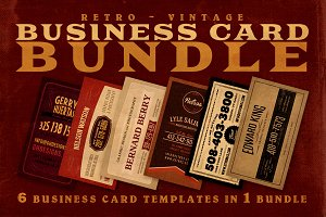 SALE: 6Retro Business Cards 60% Off