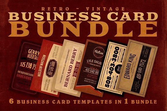 SALE: 6Retro Business Cards 60% Off
