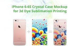 iPhone 6-6S 3d Crystal Case Mock-up