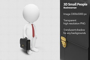 3D Small People - Businessman