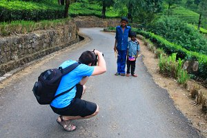 Photographer is taking photo of kids