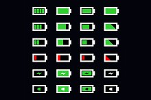 Vector battery icon set