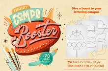 CompoBooster Procreate Retro Brushes by  in Add-Ons