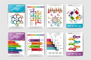 Set of Infographic brochures