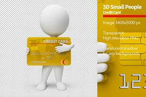 3D Small People - Credit Card