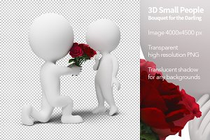 3D Small People - Bouquet