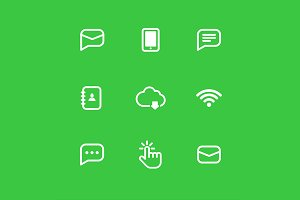 Internet vector icon set