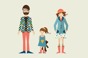 Family. Flat illustration.
