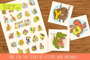 Funny ABC for the study of letters