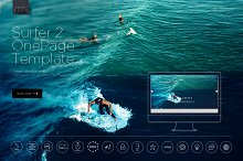 Surfer 2 - One Page Template HTML by  in Landing Pages