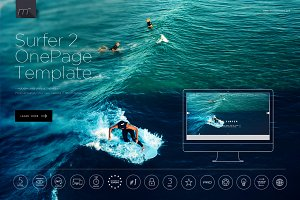 Surfer 2 - One Page Template HTML