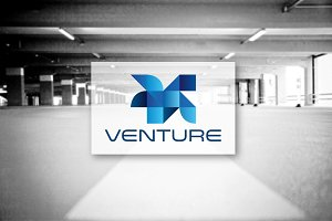 [68% off] Venture - Geometric Logo