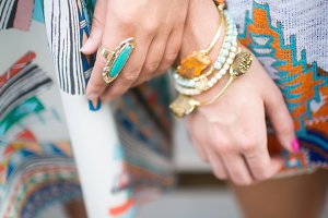 Women's Hands with Jewelry