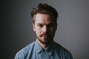 Hipster Studio Portrait