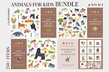 Animals for Kids BUNDLE by  in Graphics