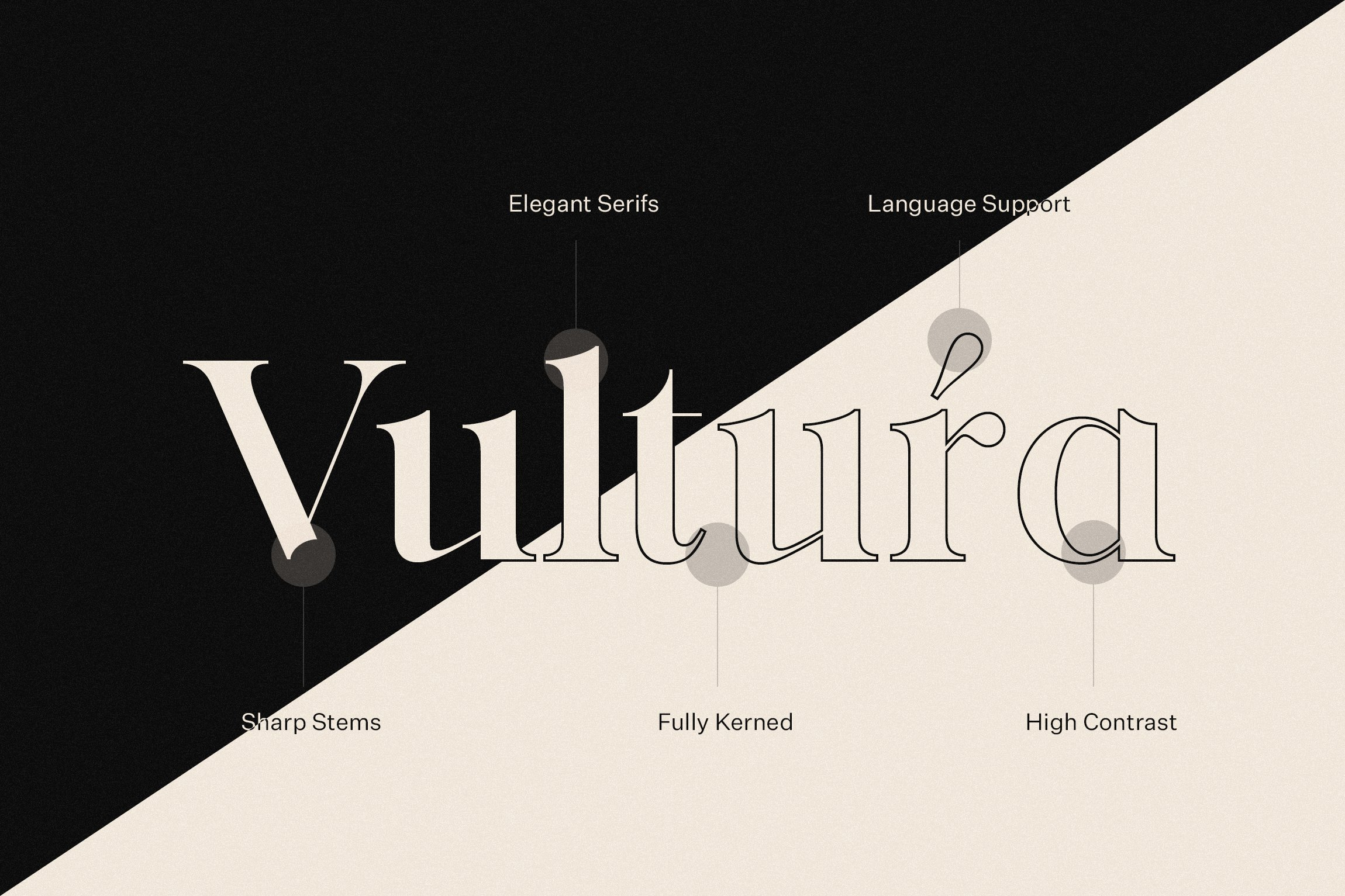 vultura font duo outline regular free logos sweetest goods typeface features 7