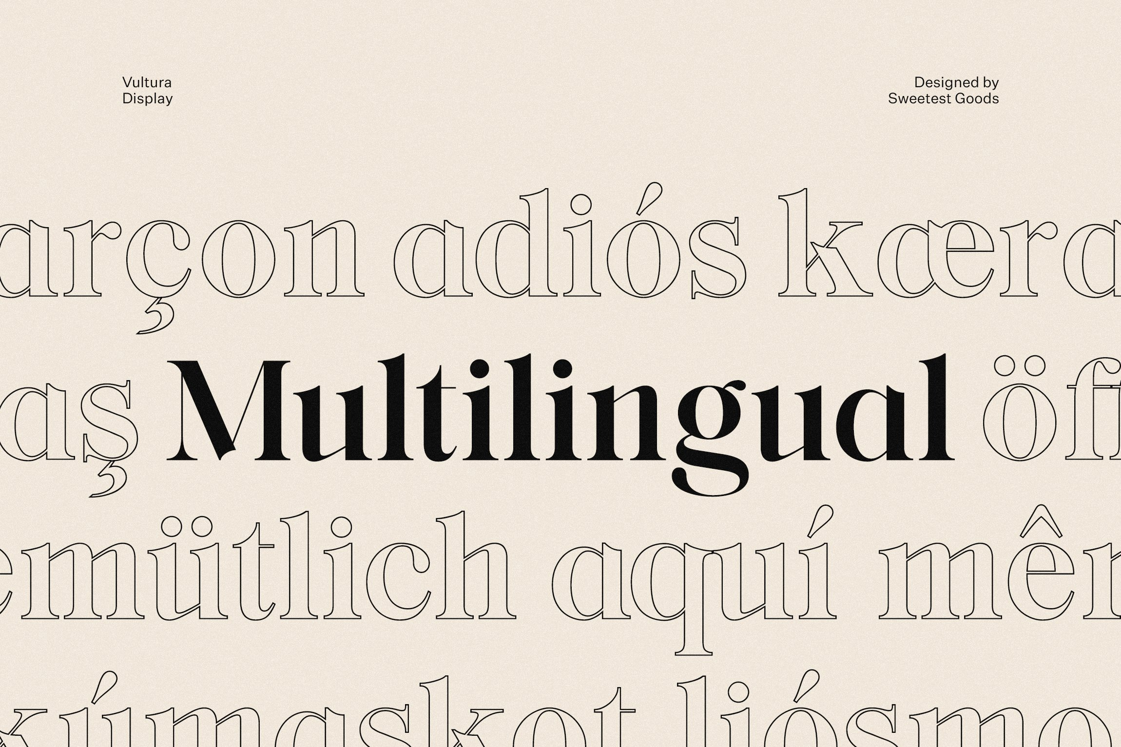 vultura font free logos sweetest goods multilingual 6