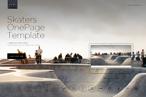 Skaters - One Page Template HTML