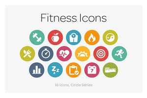 Circle Icons: Fitness