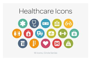 Circle Icons: Healthcare