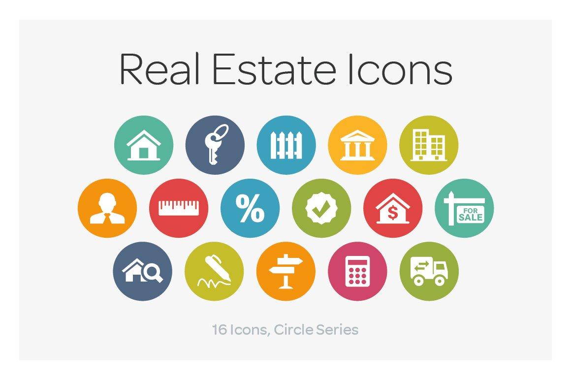 Real Estate Development Icon : Circle icons real estate creative market