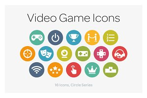 Circle Icons: Videogame