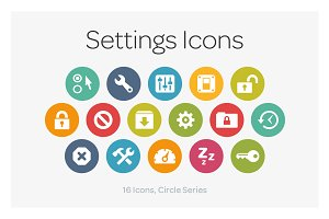 Circle Icons: Settings