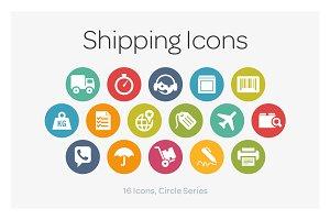 Circle Icons: Shipping