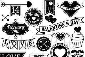 Vintage Valentine's Day Stamps