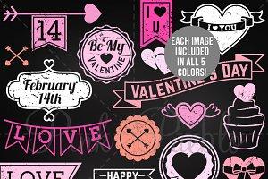 Chalkboard Valentine's Day Stamps