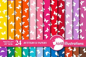 Butterfly Digital Papers AMB-1111