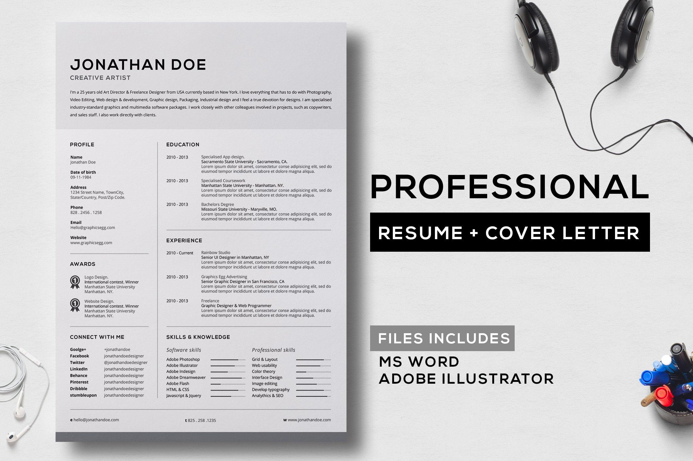 professional-resume-v6-1- Template Cover Letter For Cv Mockup Resume Xlsdxj on