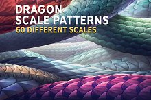 Dragon Scale Photoshop patterns by  in Add-Ons