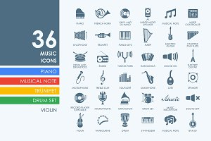 36 music icons