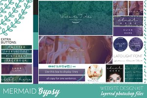 Mermaid Gypsy Website/Blog Kit
