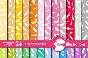 Feathers Digital Papers, AMB-987