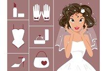 Bride and wedding accessories