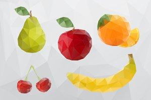 Polygonal Vector Mosaic Food