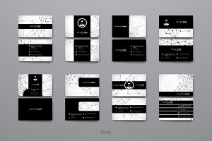 8 Business Cards in Molecular Style