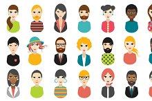 Big set of avatars profile pictures