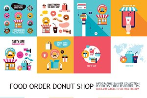 18 food order donut shop infographic