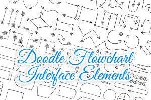Doodle Flowchart Interface Elements